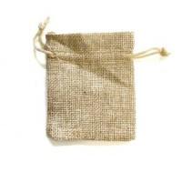Natural Pouch Wicker Linen Jute