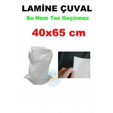 Lamine Çuval 40X65 Polipropilen  - Su Nem Toz Geçirmez