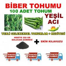 Tohum - Acı Biber Tohumu Yeşil Acı Biber 100 Adet