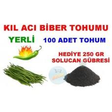 Tohum - Acı Kıl Biber Tohumu 100 Adet