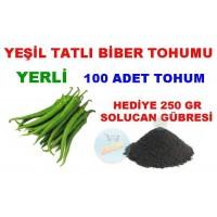Tohum - Biber Tohumu Yeşil Tatlı Biberi 100 Adet