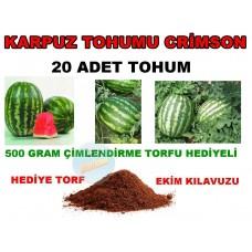 Tohum - Karpuz Tohumu Crimson Sweet Cinsi 20 Adet