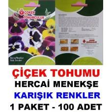 Çiçek Tohumu Hercai Menekşe 1 Paket 100 Adet