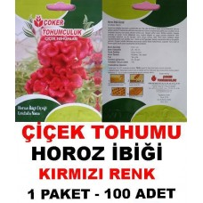 Çiçek Tohumu Horoz İbigi 1 Paket 100 Adet