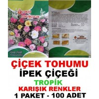 Çiçek Tohumu İpek Çiçeği 1 Paket 100 Adet