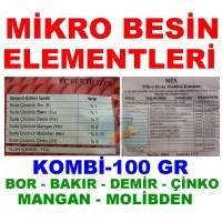 Kombi Mikro Element Besin Karışımı İz Elementler 100 GR