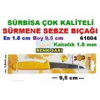 Sürbisa Sürmene Çeliği Sebze Bıçağı 61004 SARI