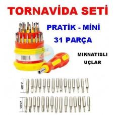 Pratik Tornavida Seti 31 Parça Mini Çok Amaçlı