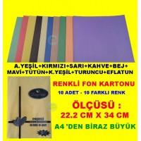 Fon Kartonu 10 Lu Set 10 Farklı Renk Daphne