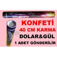 Konfeti Karma Dolar&Gül 40 cm