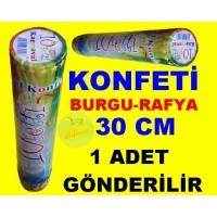Konfeti Karnaval Burgulu Rafya 30 Cm