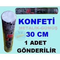 Konfeti Metalik Gümüş 30 Cm