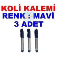 Koli Kalemi Renk Mavi 3 Adet