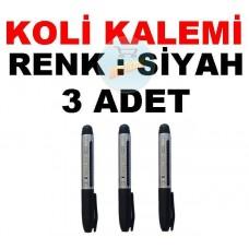 Koli Kalemi Renk Siyah 3 Adet