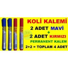 Permanent Kalem Koli Kalemi 4 Lu Set