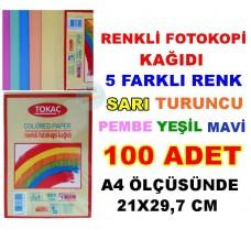 Renkli Fotokopi Kağıdı 100 Adet