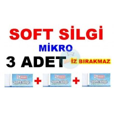 Silgi Soft 3 Adet