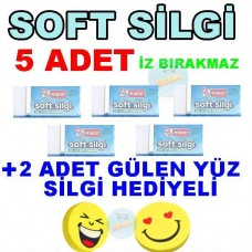 Soft Silgi Yumuşak 5 Adet