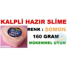 Hazır Slime Kutuda Kalp Sekilli Somon