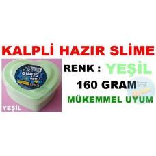 Hazır Slime Kutuda Kalp Sekilli Yeşil
