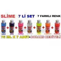 Slime 7 Li Kit 7 Farklı Renk 75 ml x 7 Adet