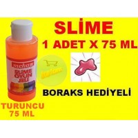 Slime 75 ml Renk Turuncu 1 Adet Boraks Hediyeli