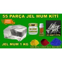 Gel Wax Kit 1000 Gr Gel Wax Red Crayon Clasps Wicks Essential Oil Jar