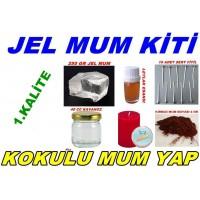 Gel Wax Kit 250 Gr Gel Wax Red Crayon Clasps Wicks Essential Oil Jar