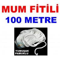 Pamuklu Mum Fitili 100 Metre