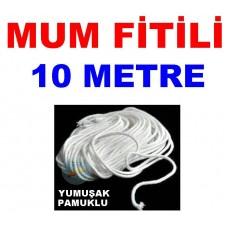 Pamuklu Mum Fitili 10 Metre
