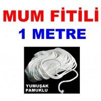 Pamuklu Mum Fitili 1 Metre