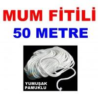 Pamuklu Mum Fitili 50 Metre