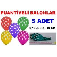 Balon 5 Adet Puanlı Desenli Balon Çeşitleri Farklı Balonlar