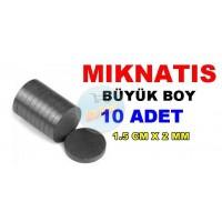 Magnet Big 1.5cmX2mm 10 Pieces