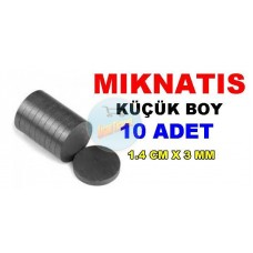 Magnet Small 1.4cmX3mm 10 Pieces