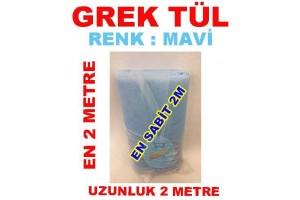 Grek Tül Mavi Renkli 2 Metre