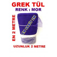 Grek Tül Mor Renk 2 Metre X 2 Metre