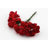 Paper Rose Red- Artificial Flower 12 pieces
