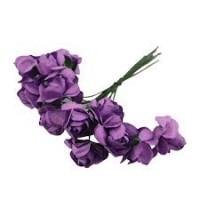Paper Rose Purple - Artificial Flower 12 pieces