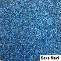 Öğütülmüş Doğal Deniz Kabuğu Kumu Saks Mavi