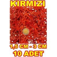 Minik Deniz Yıldızı Kırmızı 1.5-3 cm - 10 Adet