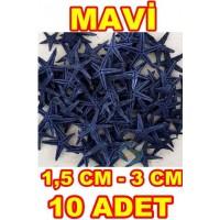 Minik Deniz Yıldızı Mavi 1.5-3 cm - 10 Adet